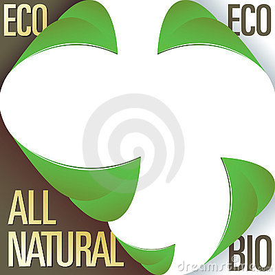 Eco and all natural corner label stickers