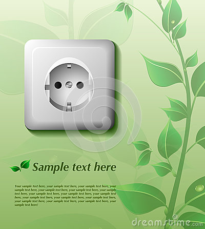 Eco background with power outlet