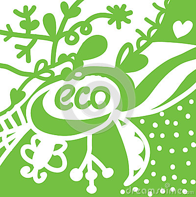 Eco background with symbols