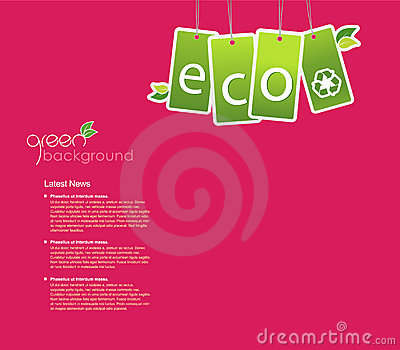 Eco background for your own text.