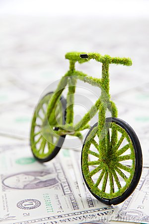 Eco bicycle icon