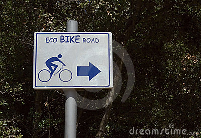 Eco bike road sign