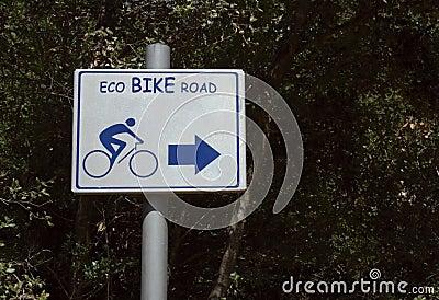 Eco bike road sign
