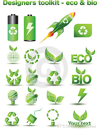 Eco and bio icons