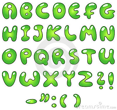 Eco bubble alphabet
