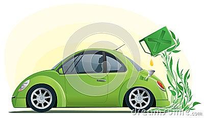 Eco car on the bio fuel