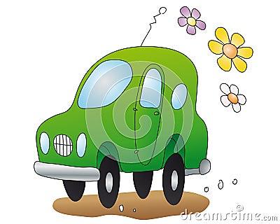 Eco-car  (vector)