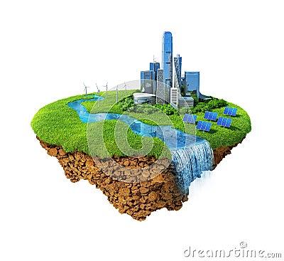 Free Eco City Concept Stock Image - 19035131