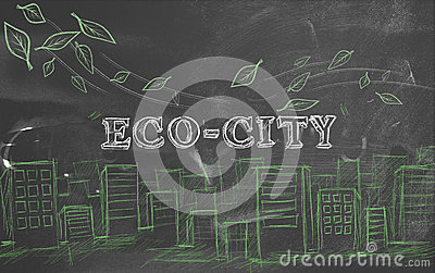 Eco-city green tourism blackboard