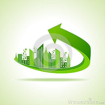 Free Eco Cityscape -go Green Concept Royalty Free Stock Image - 50522546