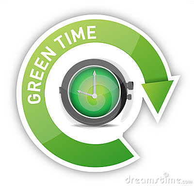 Eco clock green time