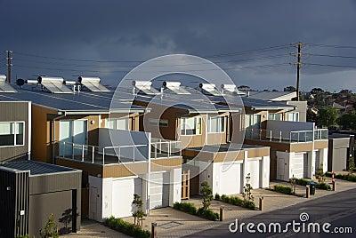 Eco d appartements au-dessus de tempête