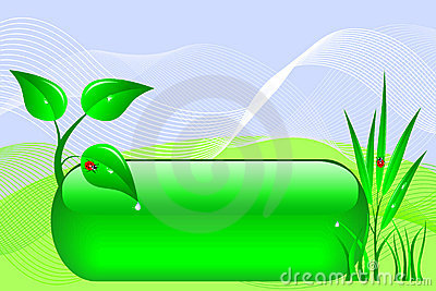 Eco design banner.