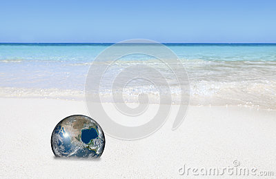 Eco Earth on beach