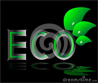 Eco  ecology logo green leaf