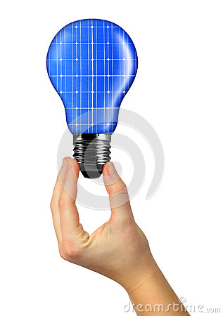 Eco energy bulb in hand