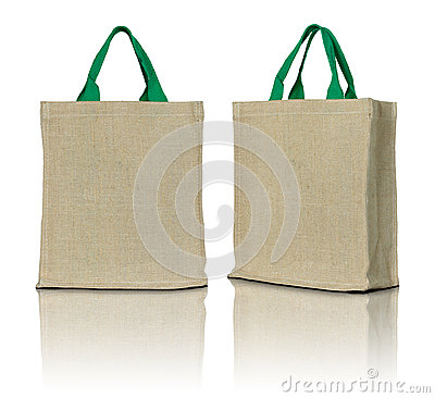 Free Eco Fabric Bag Royalty Free Stock Photos - 56662318