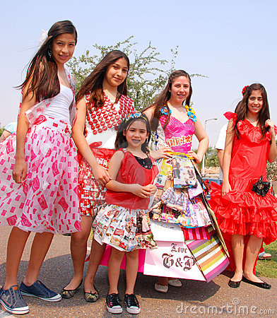 Eco-fashion models at Earth Fest Editorial Stock Image