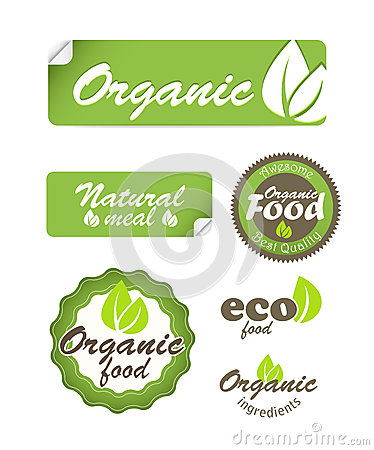 Eco food stickers