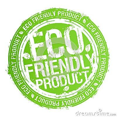 Eco freundlicher Produktstempel.