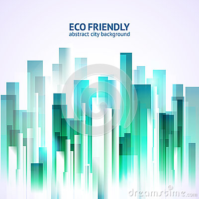 Free Eco Friendly Abstract City Background Stock Photography - 41923332