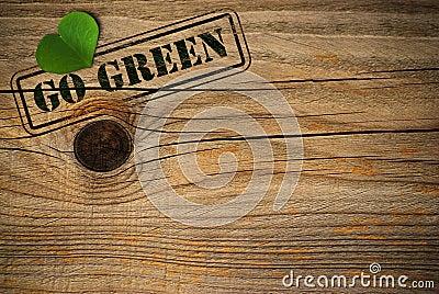 Eco friendly background - go green