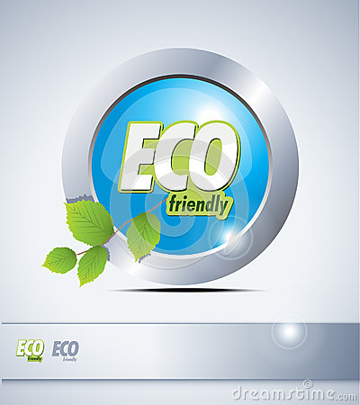 Eco friendly button.