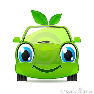 Free Eco Friendly Car. Vector Icon Stock Photography - 19793552