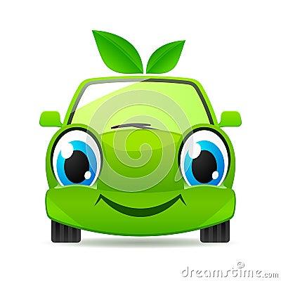 Eco friendly car. Vector icon