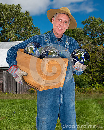Free Eco Friendly Farmer Going Green Stock Photo - 45221620