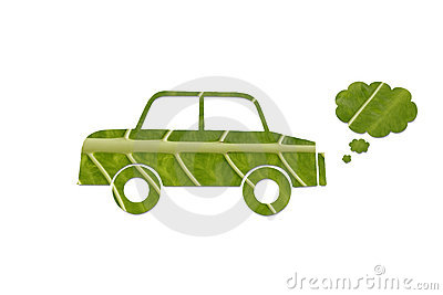 Eco friendly green car.