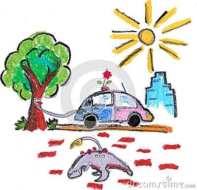 Eco friendly green car