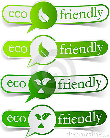 Free Eco Friendly Green Tags. Stock Photography - 20115722