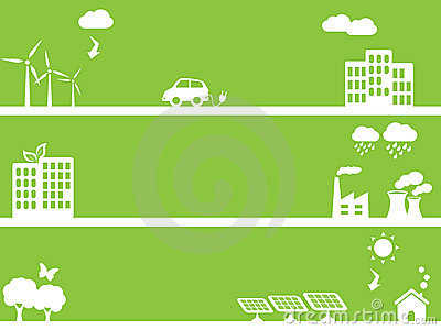 Eco friendly green towns