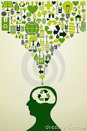Eco friendly icons illustration