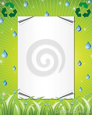 Eco friendly invitation background