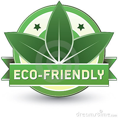 Eco-friendly product, food, or service label