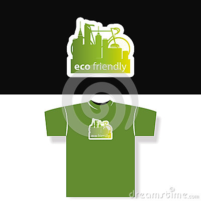 Eco friendly t shirt design stock photos image 32638473 for Environmentally friendly t shirts