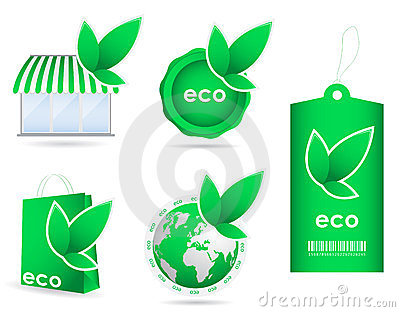 Eco friendly template icon