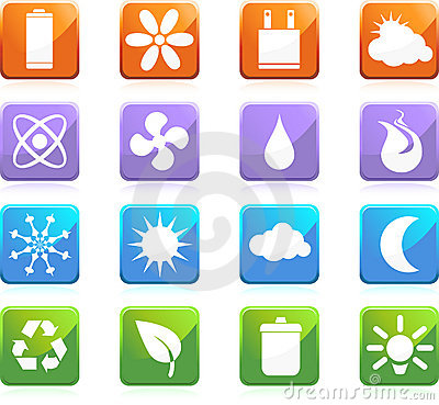 Eco friendly web buttons - square