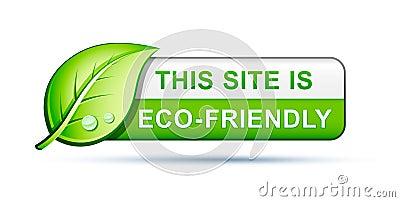 Eco friendly website icon