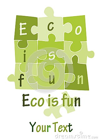 Eco is fun - green puzzle -