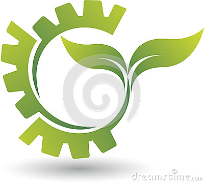Free Eco Gear Logo Royalty Free Stock Images - 44656969