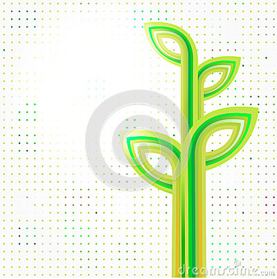 Eco green abstract background