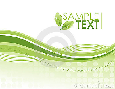 Eco Green Environmental Swirl Pattern Background