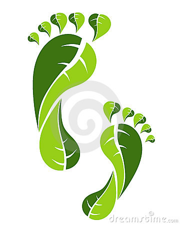 Free Eco Green Footprint Stock Photography - 20374392