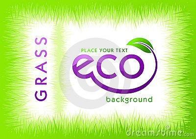 Eco green grass background