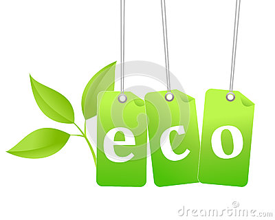 Eco green tag