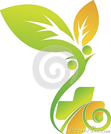 Free Eco Healthcare Logo Royalty Free Stock Photography - 46537077