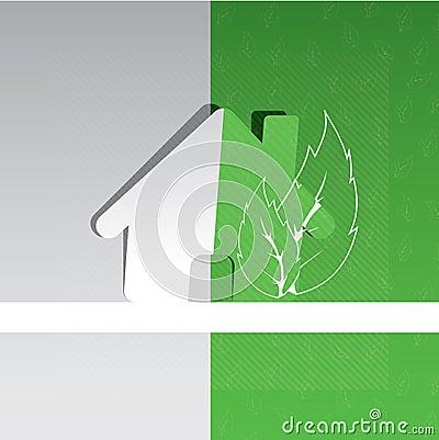 Eco home background design